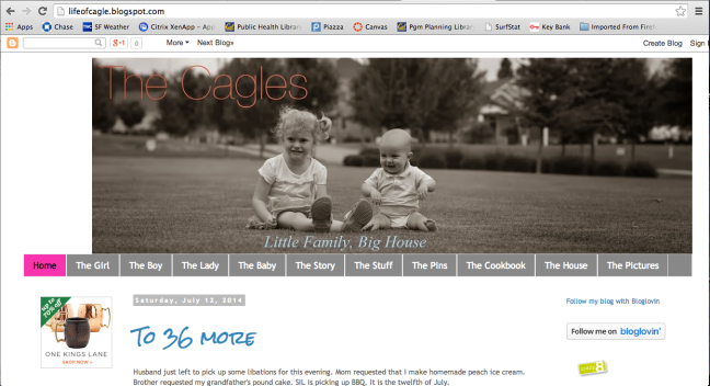 Screenshot of Meet the Cagles landing page showing the top navigation bar