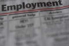 employment section of newspaper