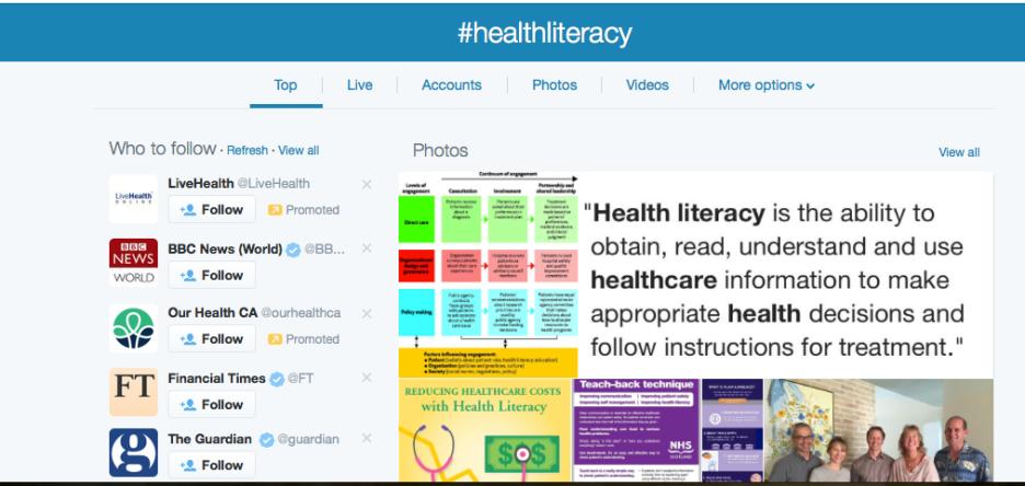 #healthliteracy