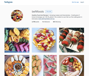 Be Fit Foods Instagram