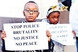 stop police brutality no justice no peace