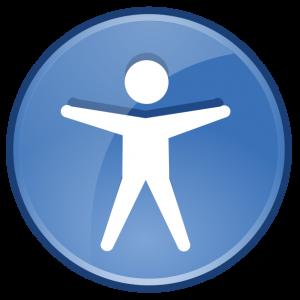 An accessibility logo.
