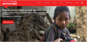 ActionAid homepage