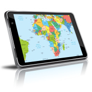 africa-map-in-a-digital-tablet