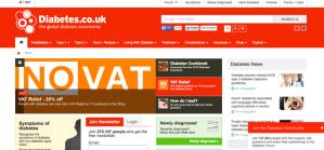 Diabetes UK homepage