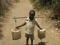 child fetching the water